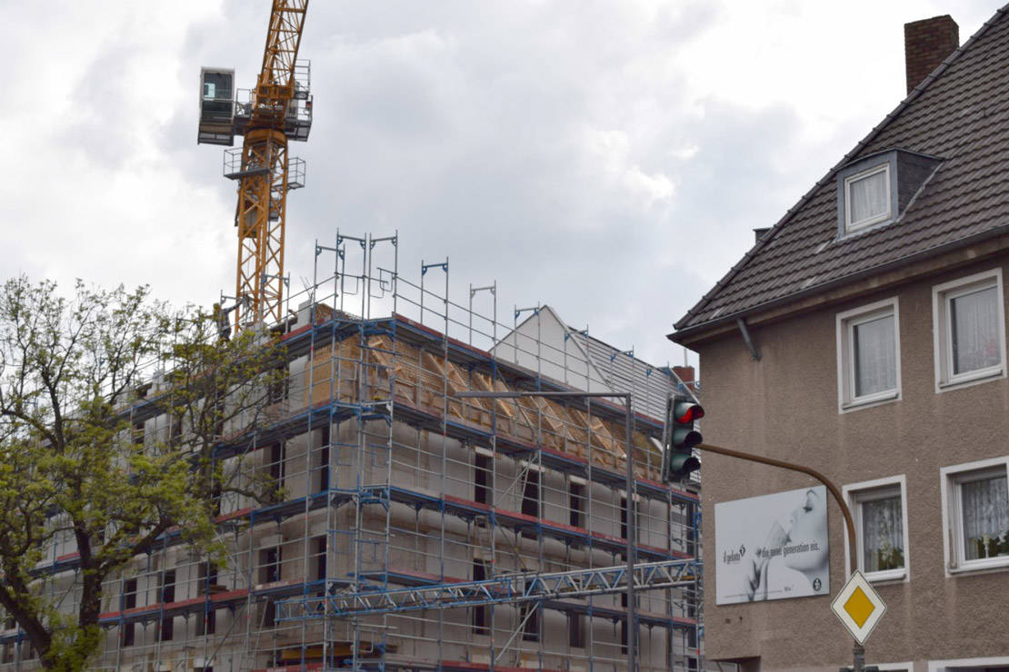 Photo report of the construction of an apartment building in Cologne from 6.05.2019