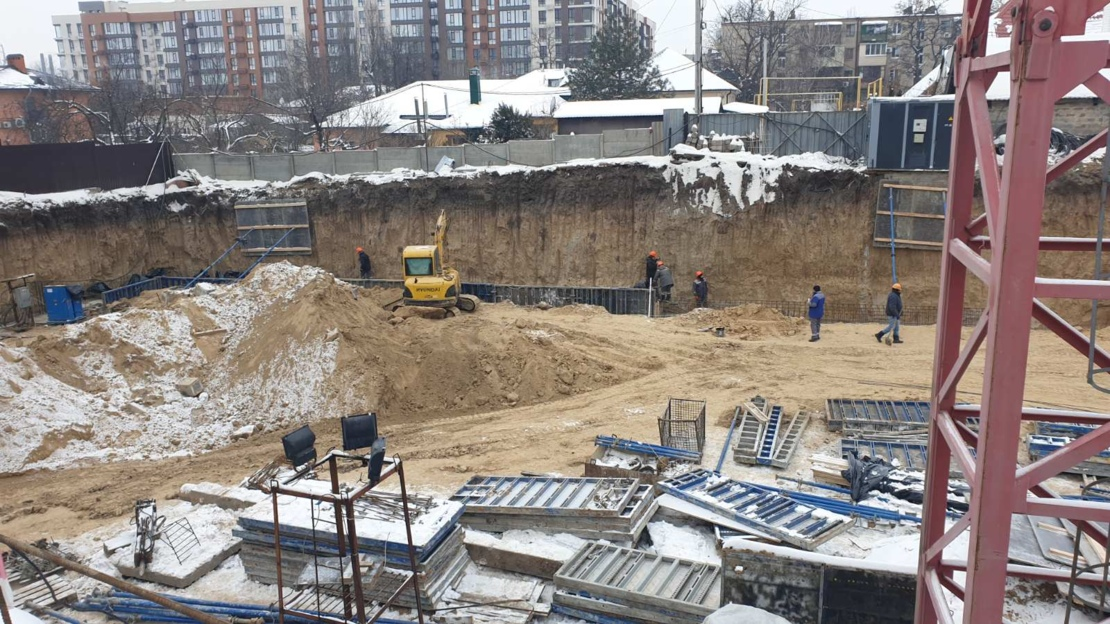 Start of construction of a new residential complex on the Olesya Gonchara street