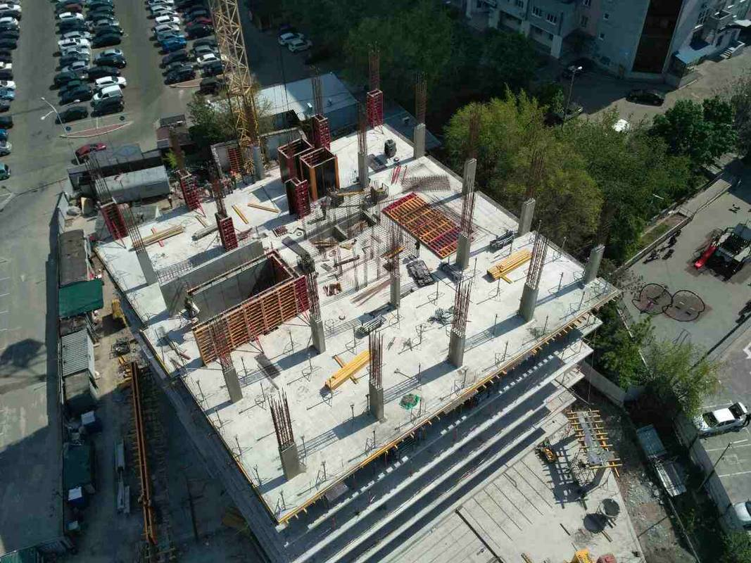 Photo report of the construction of the residential complex «Grani» from 4.05.2019