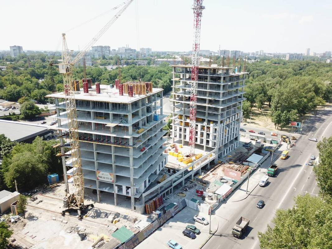 Photo report of the construction of the residential complex «Grani» from 3.07.2019