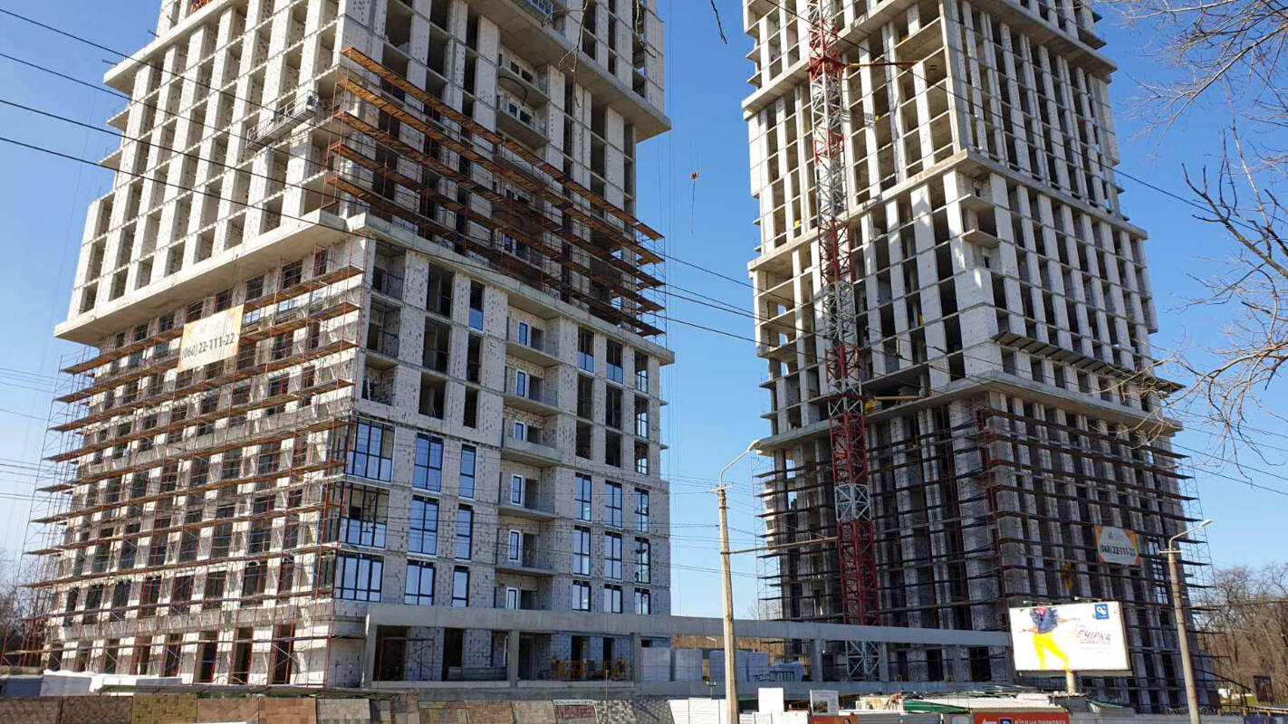 Photo report of the construction of the residential complex «Grani» from 24.03.2020