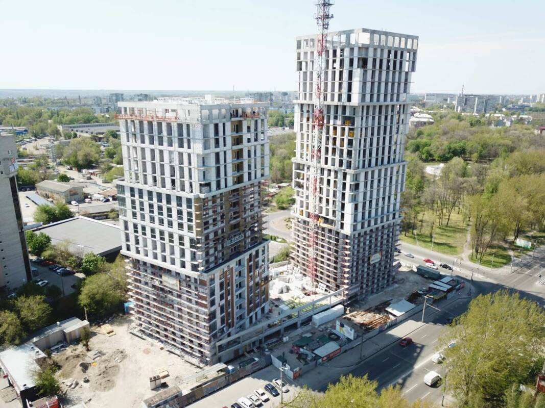 Photo report of the construction of the residential complex «Grani» from 30.04.2020
