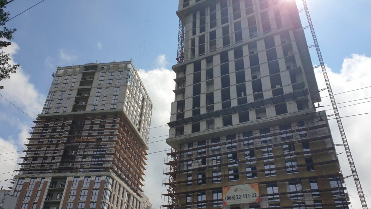 Photo report of the construction of the residential complex «Grani» from 1.06.2020