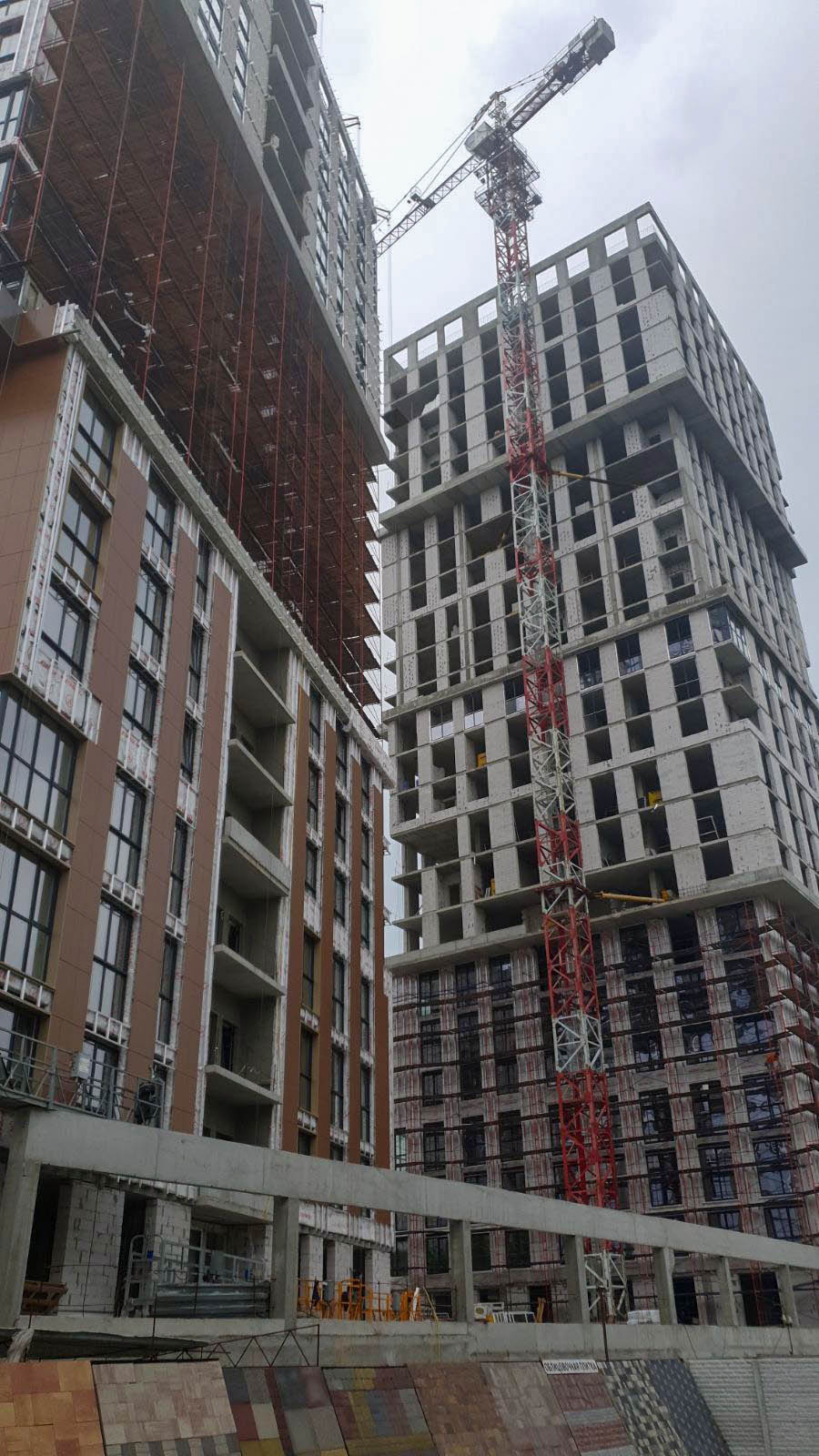 Photo report of the construction of the residential complex «Grani» from 16.06.2020