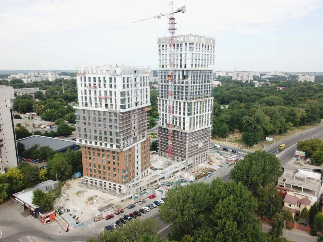 Photo report of the construction of the residential complex «Grani» from 30.07.2020